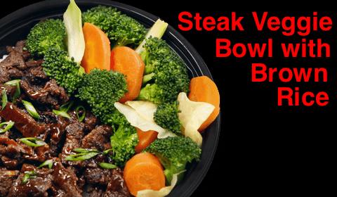 Waba- Steak Veggie Bowl with Brown Rice