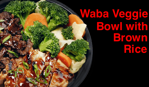 Waba- Waba Veggie bowl with Brown Rice