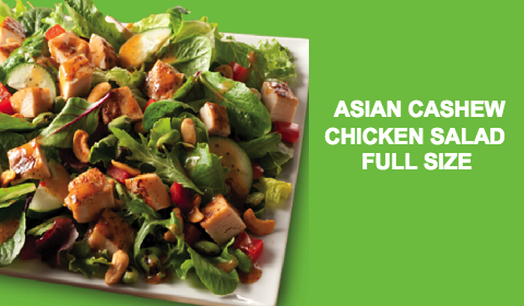 Wendys- ASian Cashew chicken salad